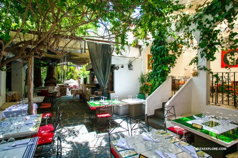 Excellent traditional food in lovely renovated old stables in Ibiza ...